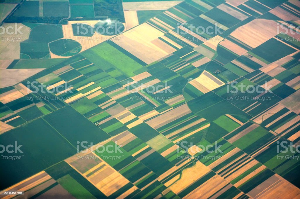 Agriculture fields in Europe stock photo