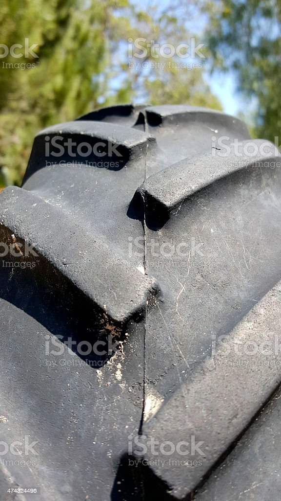 Agriculture Off-road Truck Tire Profile stock photo