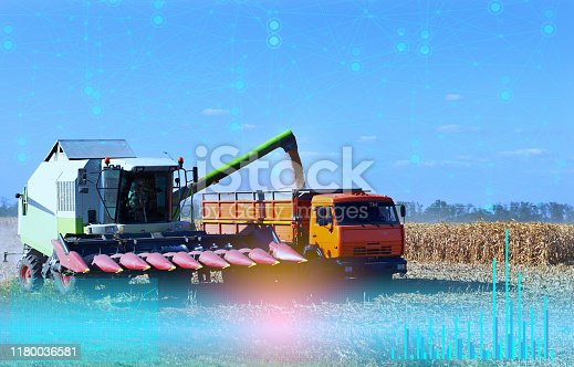 istock agriculture, the interaction of advanced technologies to control technology without human intervention, fully automatic production 1180036581