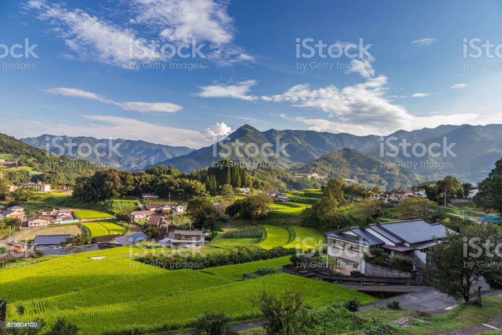 Agriculture village in Takachiho, Miyazaki, Kyushu. - foto de stock