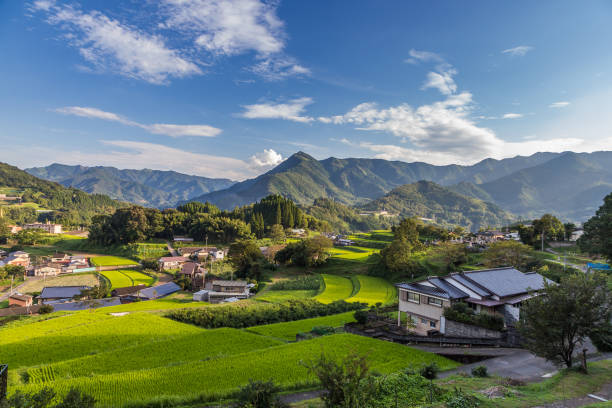 Agriculture village in Takachiho, Miyazaki, Kyushu. Agriculture village in Takachiho, Miyazaki, Kyushu satoyama scenery stock pictures, royalty-free photos & images
