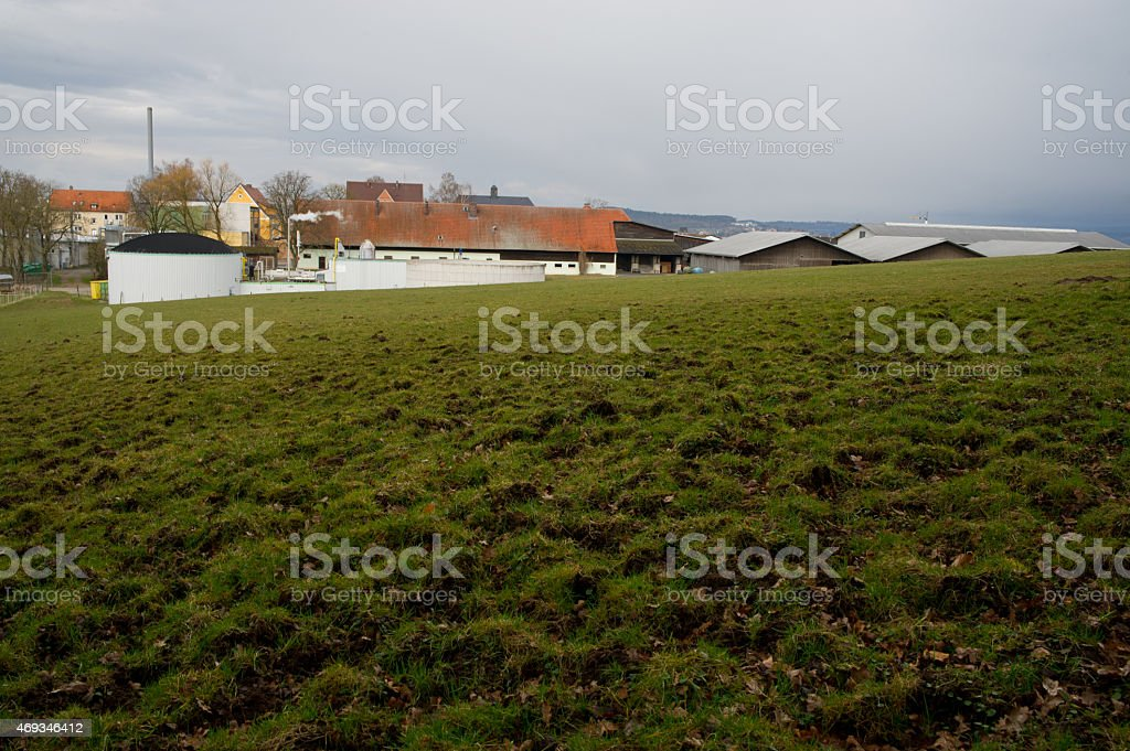 Agriculture village stock photo