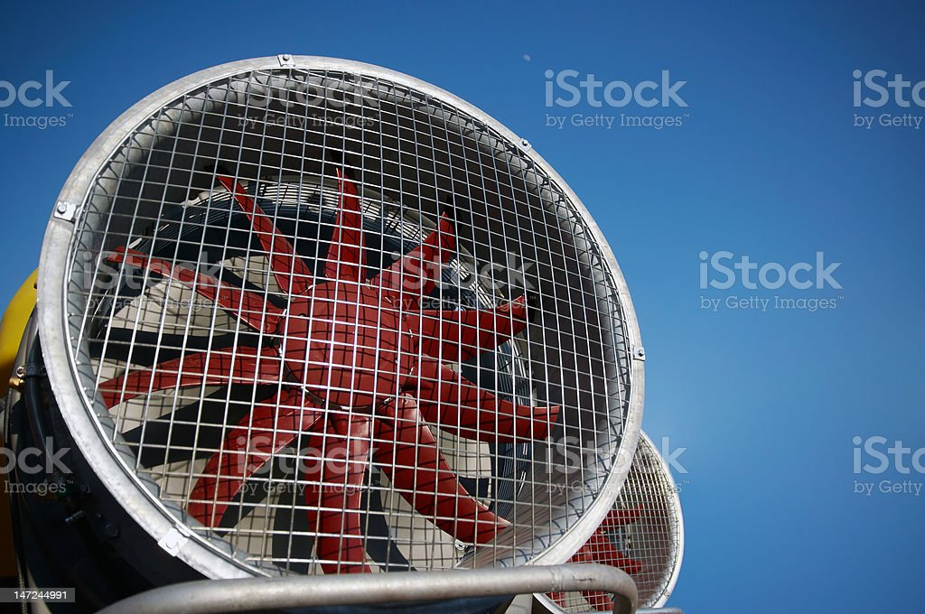 Agriculture wind machine stock photo