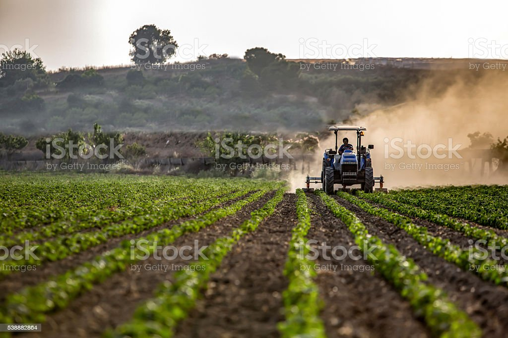 Agriculture With Machine stock photo