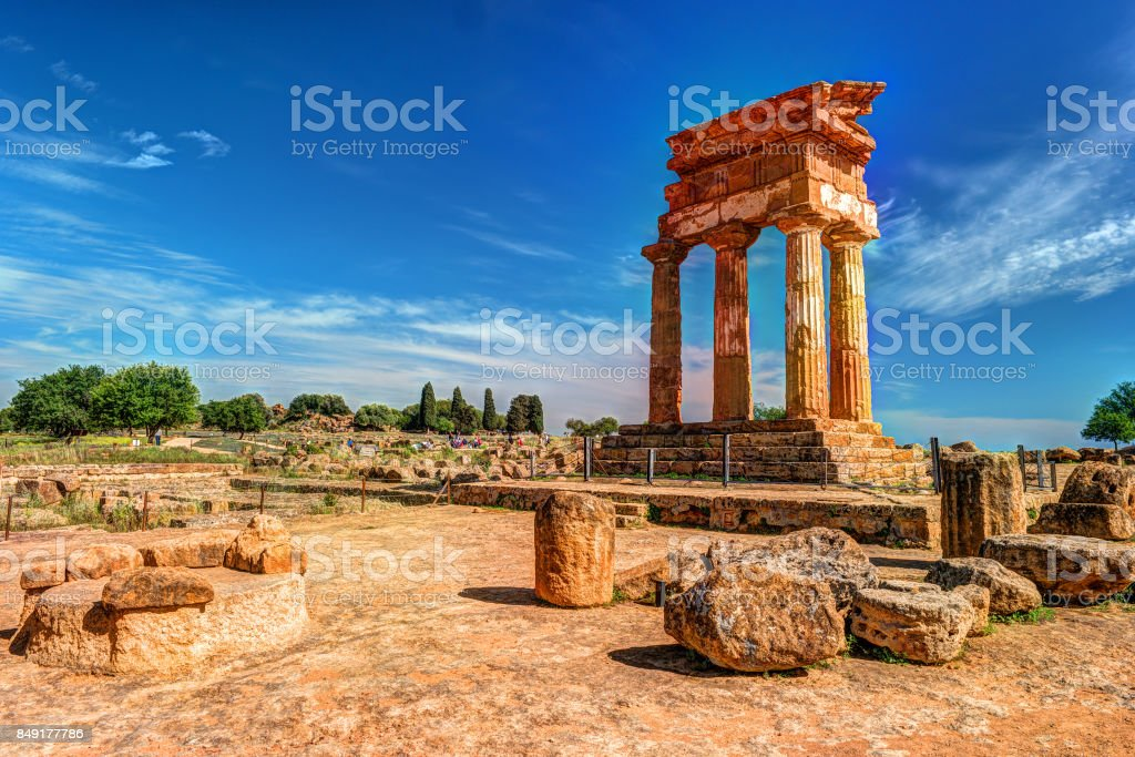 Agrigento, Sicily. Temple of Castor and Pollux - foto stock