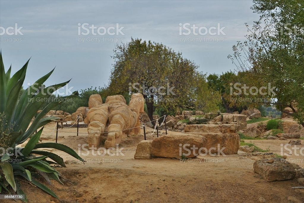 Agrigento, Sicilia. Valle dei templi stock photo