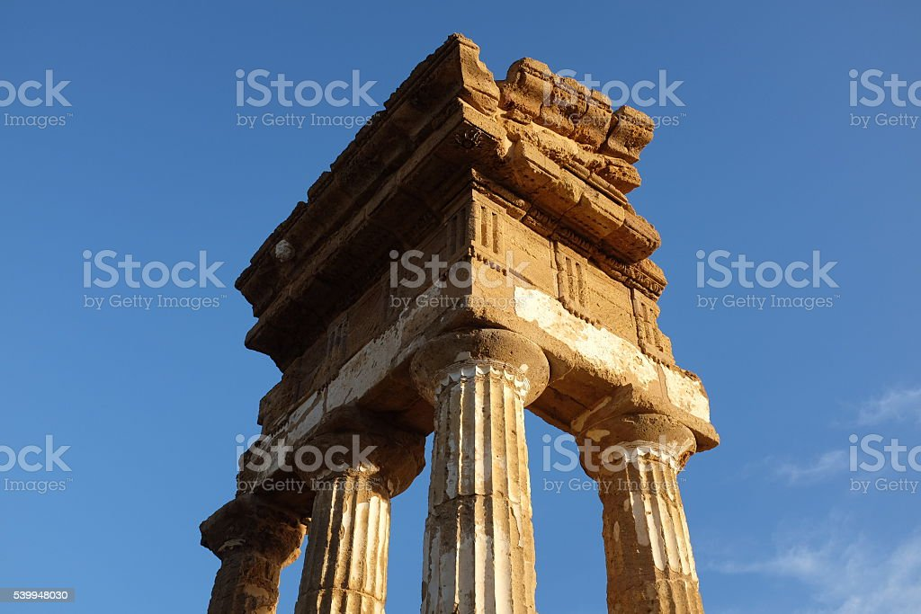 Agrigento (Sicily) Temple Ruins stock photo