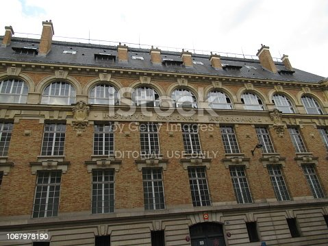 Facade of AgroParisTech, in Paris, France. AgroParisTech is a French university-level institution, also known as a