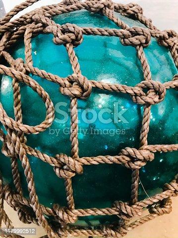 Agua blue Japanese glass Fishing float