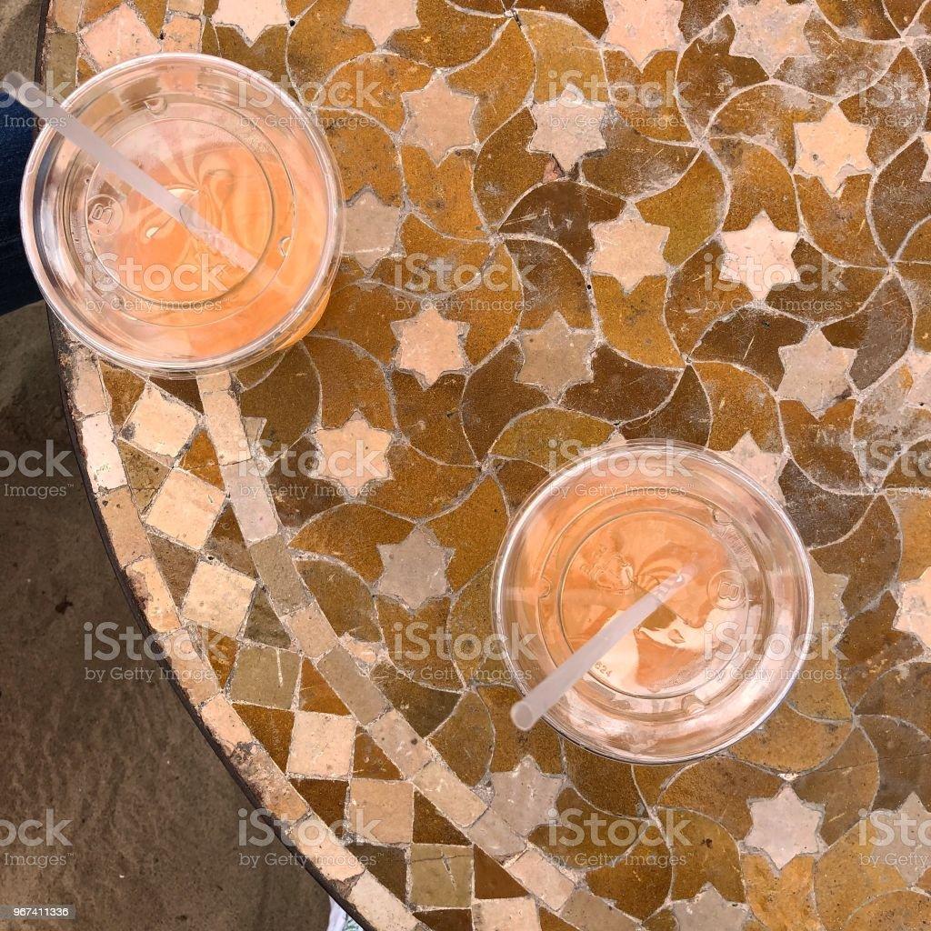 Agua Fresca al fresco stock photo