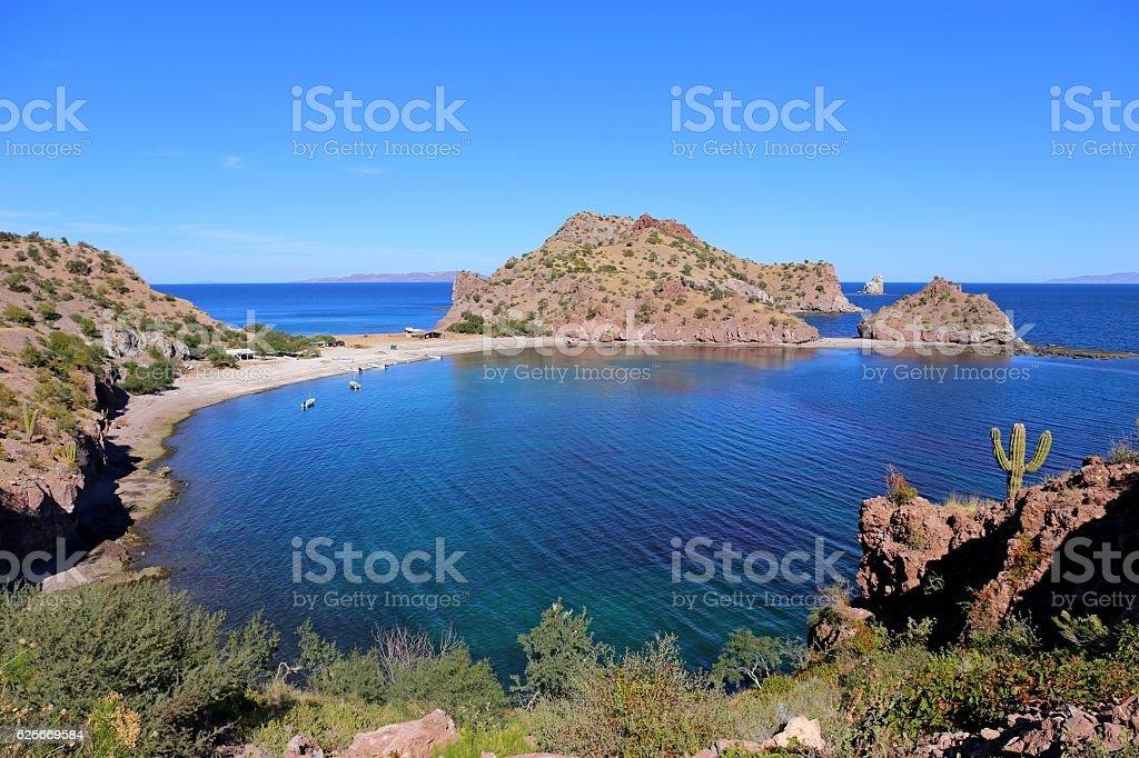 Agua Verde in Baja California stock photo