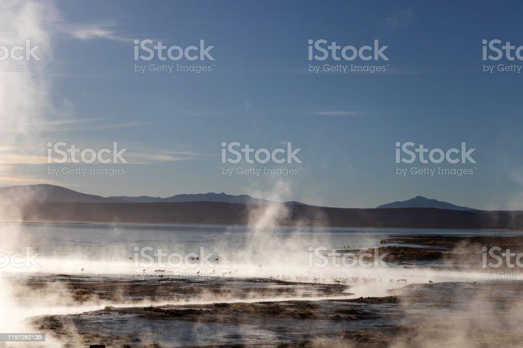 Hot springs Aguas Termales de Polques with pool of natural thermal...