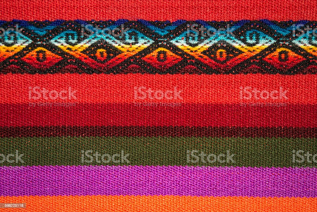 Aguayo andean  loom foto royalty-free