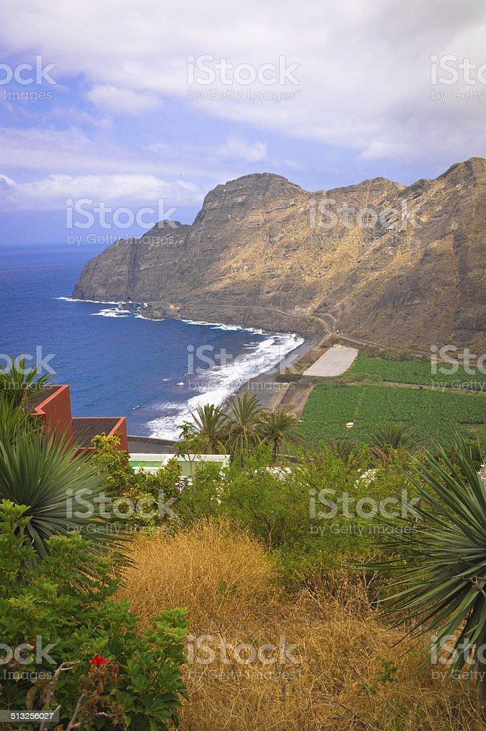 Agulo beach stock photo