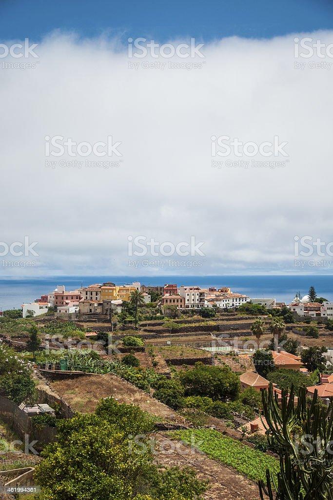 Agulo, La Gomera island stock photo