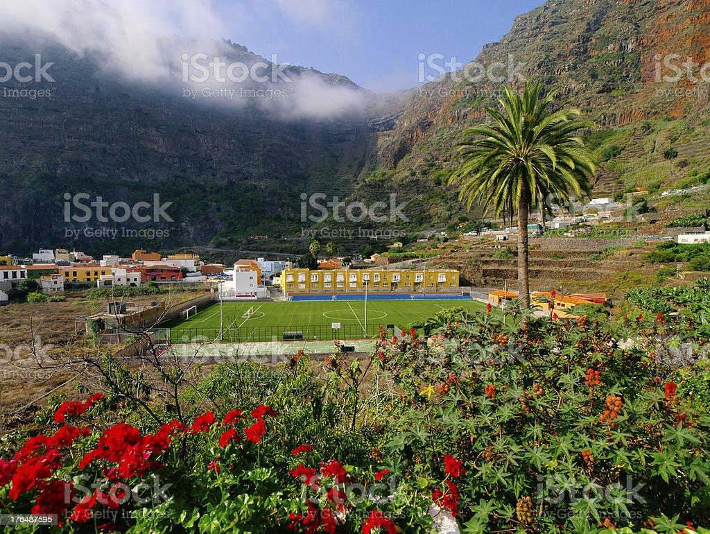 Agulo on La Gomera stock photo