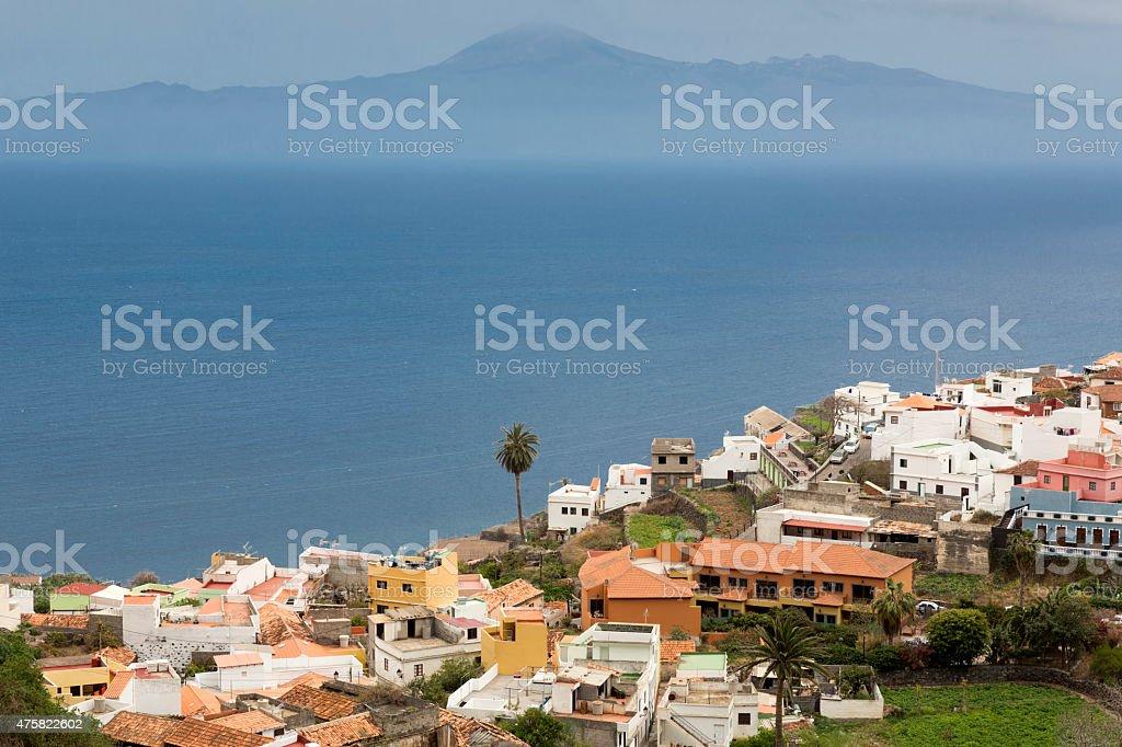 'Agulo' village on Gomera island, Spain stock photo