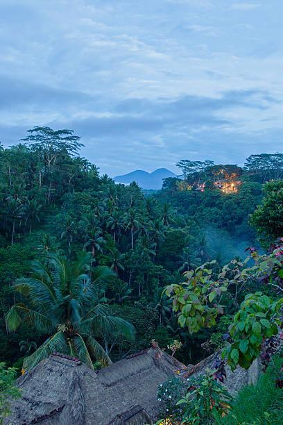 Agung Valley at Dawn, Bali stock photo