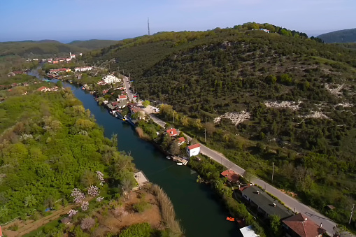 Agva is very cute village in Istanbul take a  with drone. Best Quality