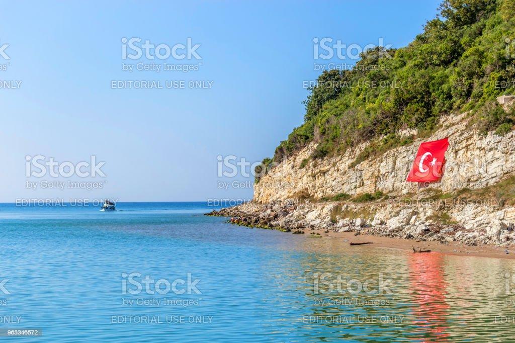 Agva or Yesilcay destination in Sile, Turkey zbiór zdjęć royalty-free