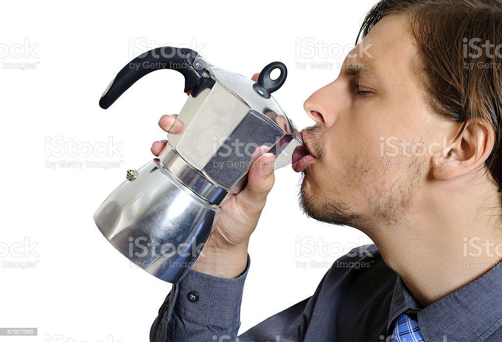 Ah, sweet caffeine royalty-free stock photo