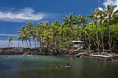 Ahalanui County Beach Park, Puna. Big Island, Hawaii