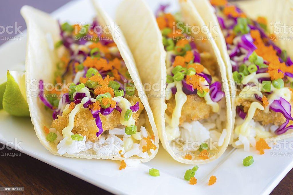 Ahi Katsu Sushi Tacos royalty-free stock photo