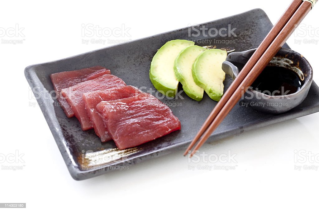 Ahi Sashimi Appetizer royalty-free stock photo