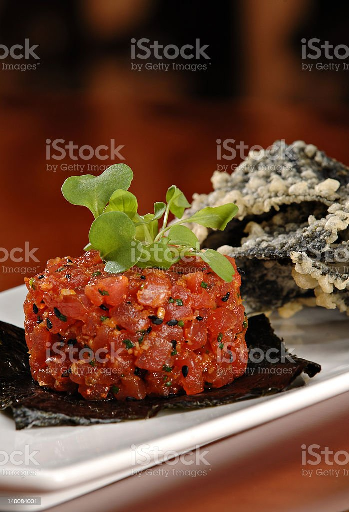 Ahi Tuna Appetizer royalty-free stock photo