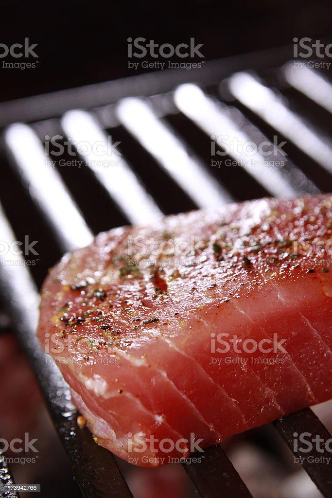 Ahi Tuna on the Barbecue royalty-free stock photo