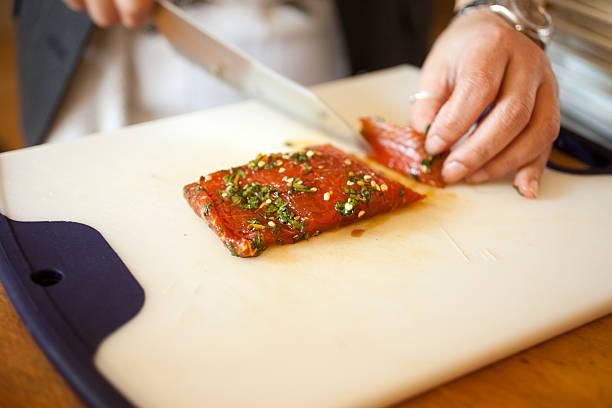 Ahi tuna stock photo