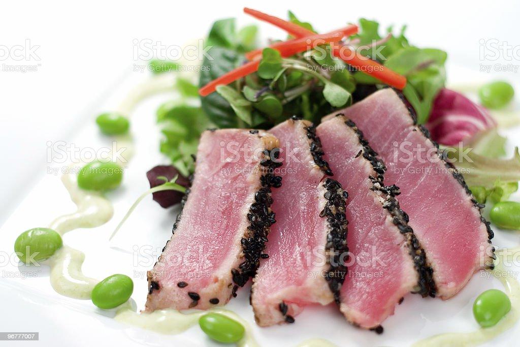 Ahi Tuna & Salad royalty-free stock photo
