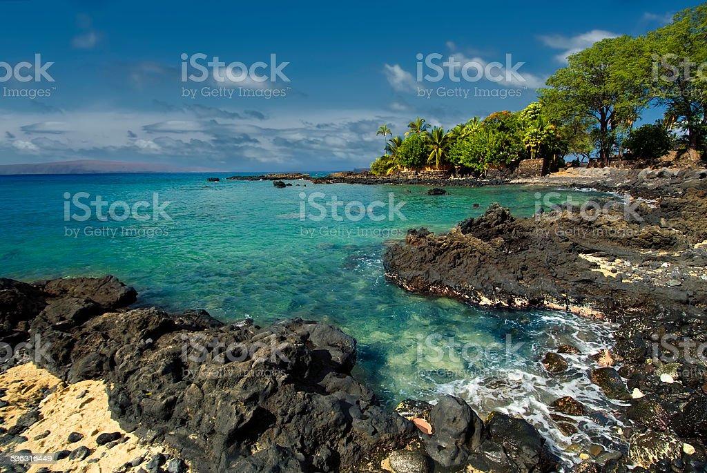 Ahihi Bay in Waiala Cove, south Maui, Hawaii, USA stock photo