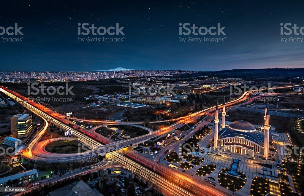 Ahmet Hamdi Akseki Moschee in der Hauptstadt der Türkei, Ankara. – Foto
