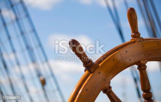 old wooden ship rudder