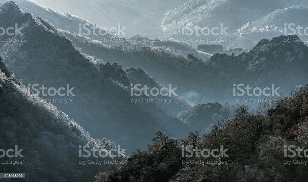Ahrvalley in wintertime stock photo