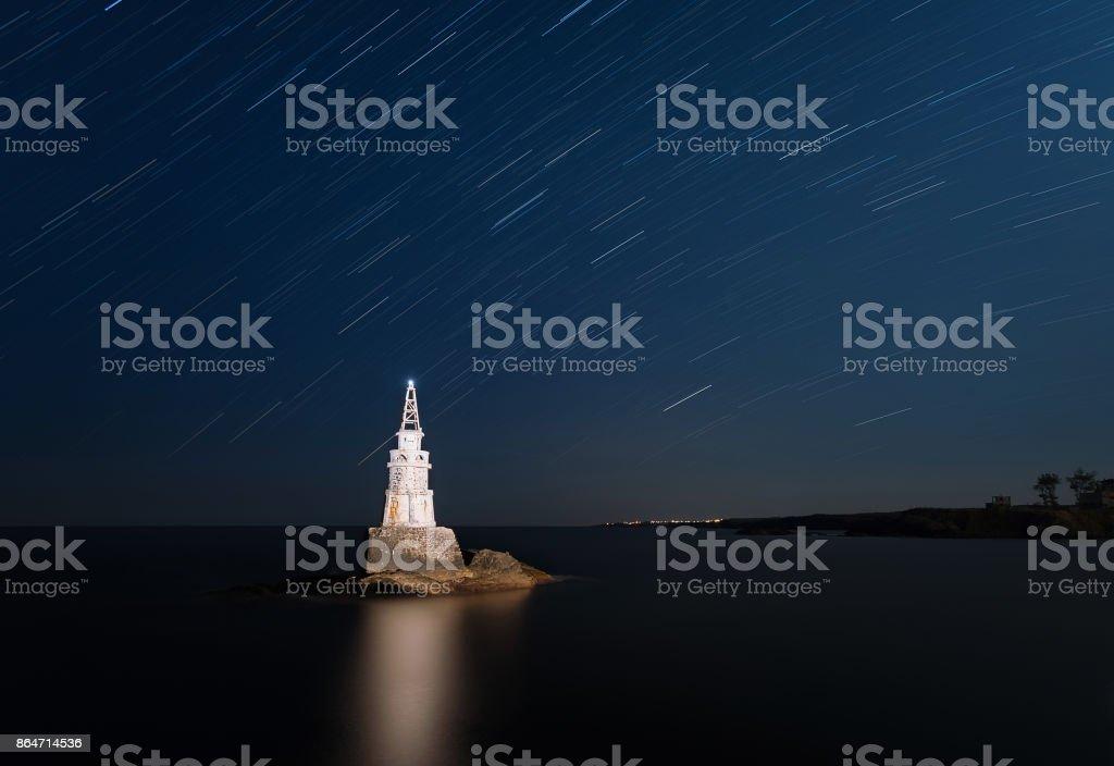 Ahtopol's lighthouse stock photo
