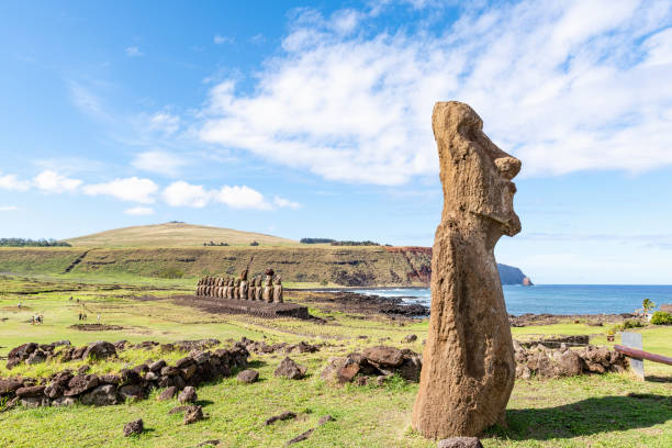 Ahu Tongariki, Easter Island, Chile.