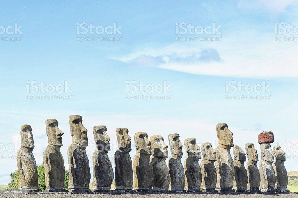 Ahu Tongariki - Easter Island royalty-free stock photo