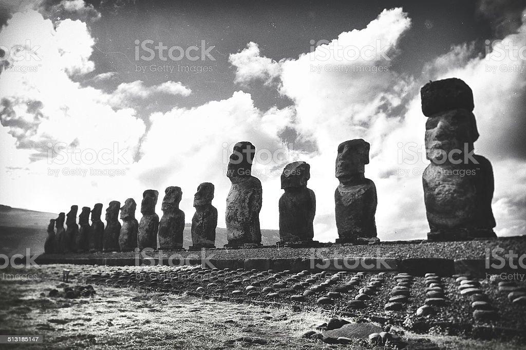 Ahu Tongariki - Easter Island stock photo