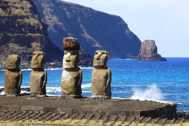 Ahu Tongarikis Moai auf der Osterinsel, Chile – Foto