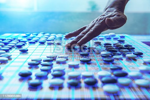 Expressed as Ai(Artificial intelligence) playing Go.