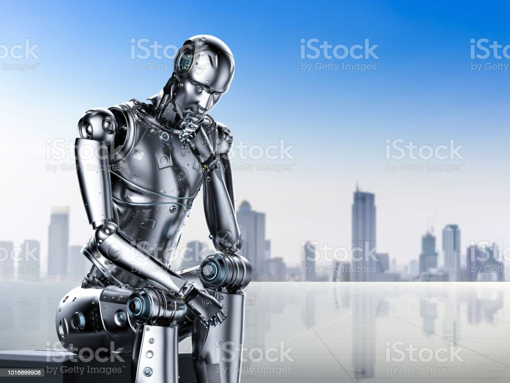 pensée de robot IA - Photo