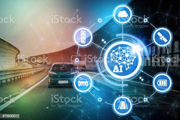 Aiartificial intelligence and automotive technology autonomous car picture id875500012?b=1&k=6&m=875500012&s=612x612&h=on32drntvjv3tttquefgvoigapc 7kztoqitagvxh5o=
