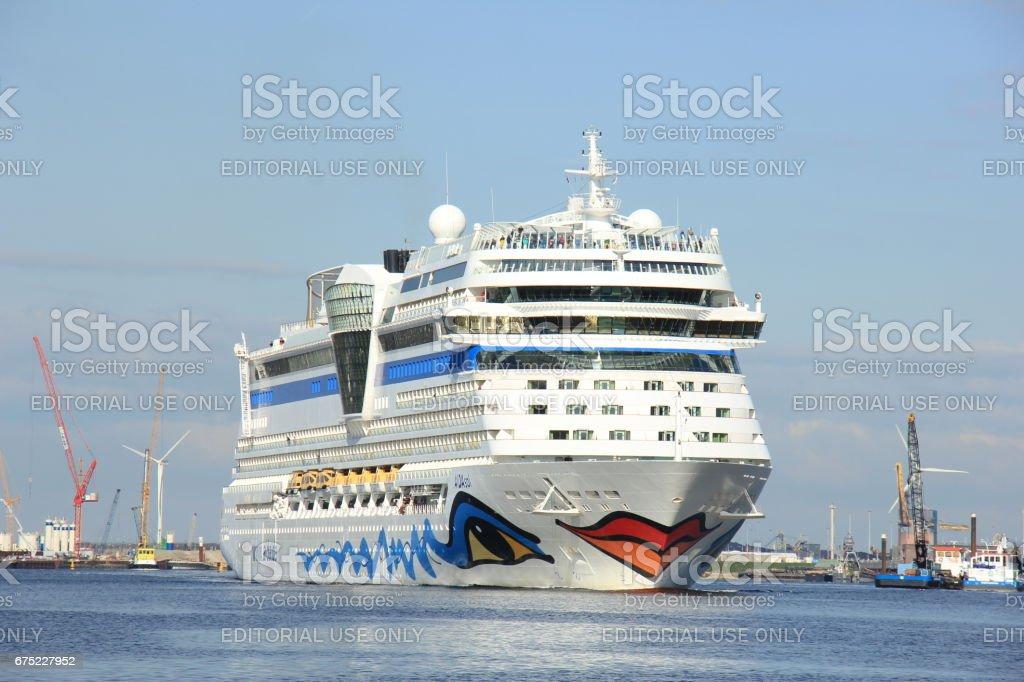 Aida Sol on North Sea Canal stock photo