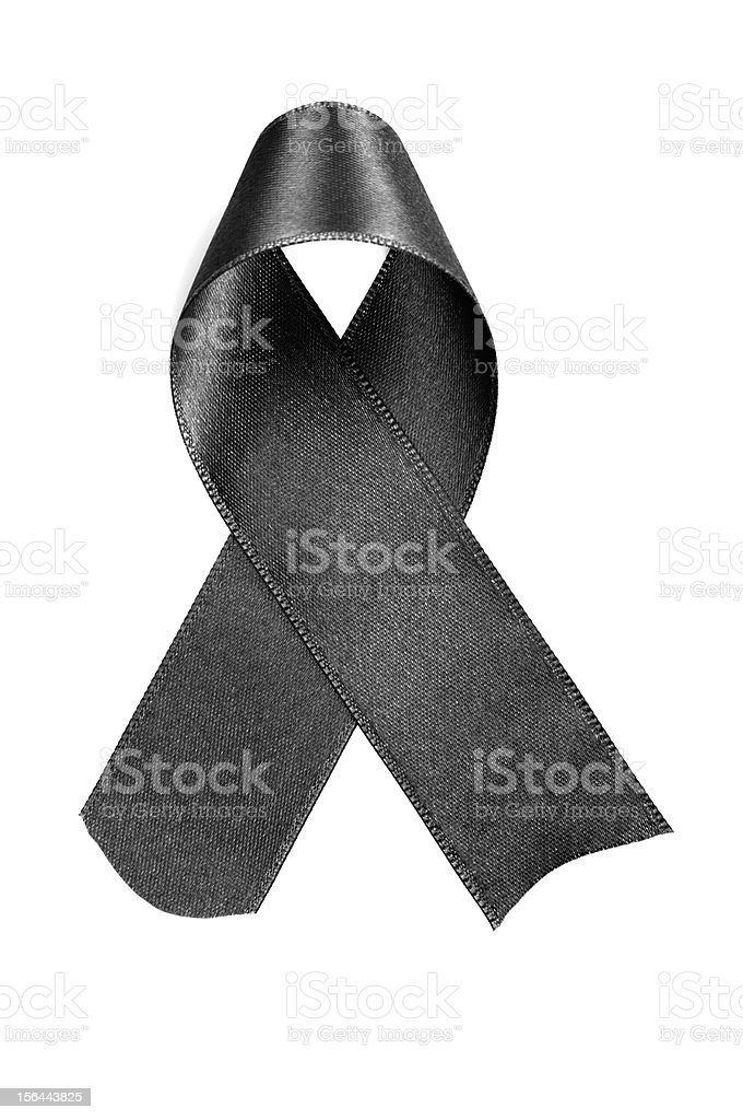 Aids And Heart Disease Awareness Ribbon stock photo