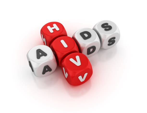 HIV Aids Concept Crossword - 3D Rendering HIV Aids Concept Crossword - White Background - 3D Rendering hiv stock pictures, royalty-free photos & images