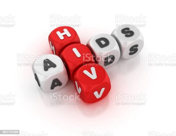 愛滋病概念縱橫字謎3d 渲染 照片檔及更多 保護 照片