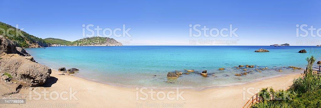 Aiguas Blanques Agua blanca Ibiza beach stock photo