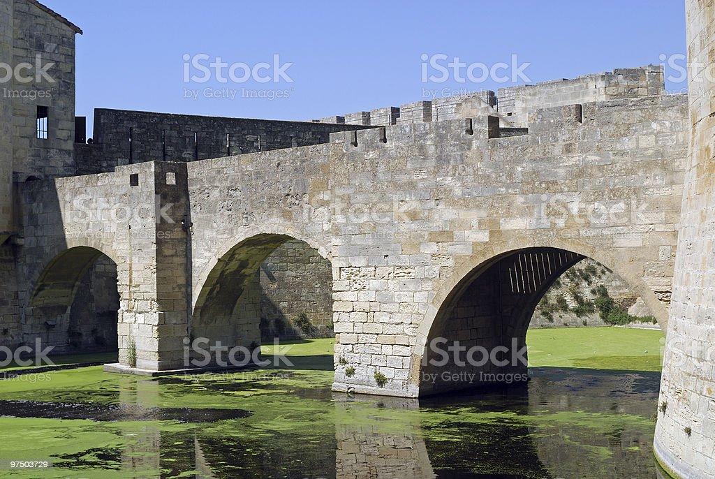 Aigues-Mortes (Southern france) - Ancient bridge royalty-free stock photo